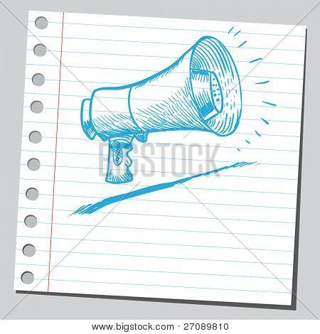 Scribble megaphone