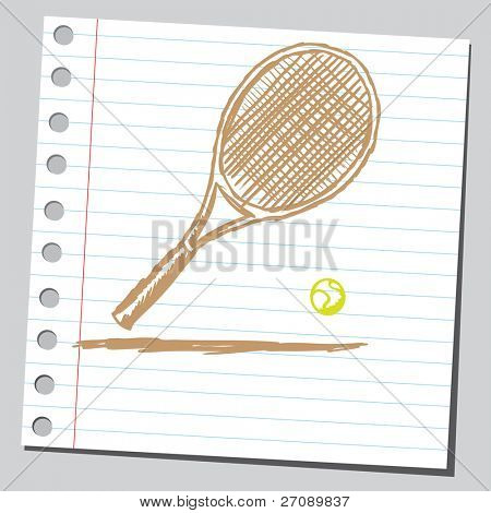 Scribble tennis racket