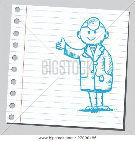 Gekritzel Arzt