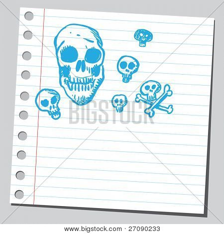 Scribble skulls
