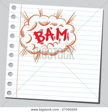 Scribble comic explosion