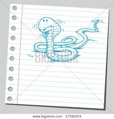 Sketchy cobra snake