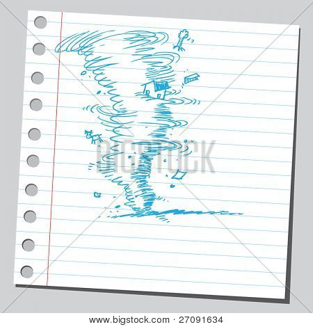 Sketch style illustration of a hurricane