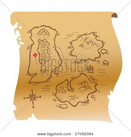 Illustration of a treasure map
