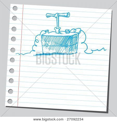 Sketchy illustration of a detonator