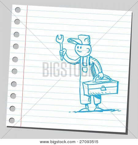 Dibujo de un reparador