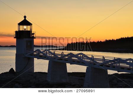 Marshall Point Lighthouse at Sunset