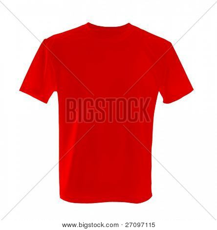 red T-shirt ñan be used as design template.