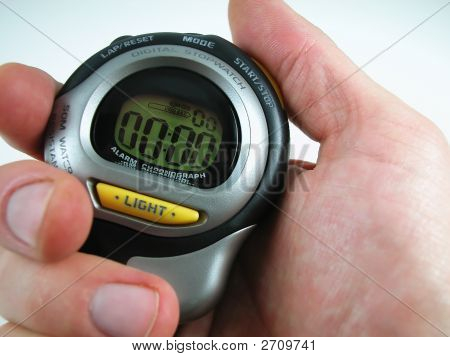 Digital Stop Watch With Hand
