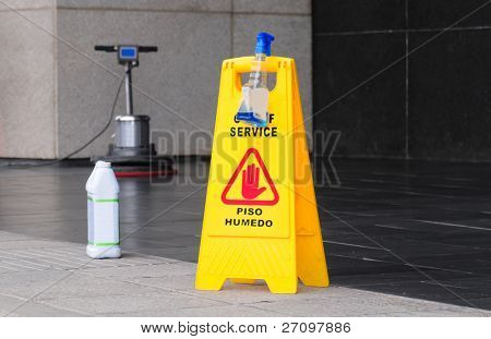 Floor maintenance.