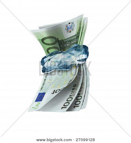 frozen money