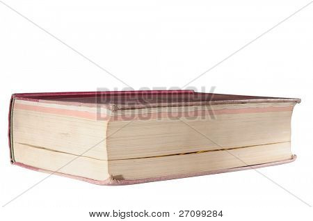 Thick book, educational concept. Isolated