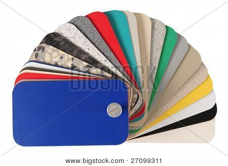 Laminated swatches. Isolated