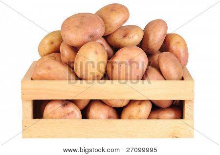 Potatoes. Isolated