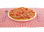 stock photo of pizza parlor  - Pizza in restaurant - JPG