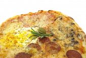 pic of pizza parlor  - Pizza with salami - JPG