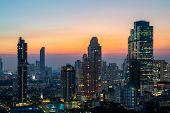 Night Of The Metropolitan Bangkok City Downtown Cityscape Urban Skyline Tower Thailand  - Cityscape  poster