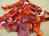 Homemade Advent Calendar With Wrapping Paper Sachets poster