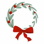 Christmas Tree Branch Decoration Frame Divider Holiday Garland. poster