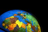 stock photo of north sudan  - globe of the world with many countries - JPG