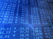 foto of stock market data  - 3d rendered illustration from a board of many stock numbers - JPG