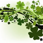 image of four leaf clover  - design for St - JPG