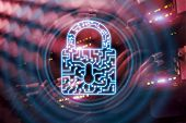 Cyber Security Lock Icon Information Privacy Data Protection Internet And Technology Concept. poster