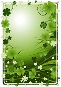 pic of four leaf clover  - design for St - JPG