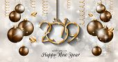 2019 Happy New Year Background for your Seasonal Flyers and Greetings Card or Christmas themed invit poster