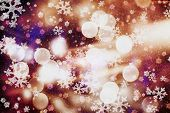 Glittering Shine Bulbs Lights Background:blur Of Christmas Wallpaper Decorations Concept.holiday Fes poster