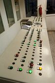 The Control Panel Of Conveyor On Production Of Concrete Mix For Production Of Construction Plates poster