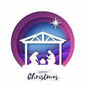 Birth Of Christ. Baby Jesus In The Manger. Holy Family. Magi. Star Of Bethlehem - East Comet. Nativi poster