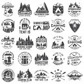 Summer Camp. Vector. Concept For Shirt Or Patch, Print, Stamp Or Tee. Vintage Typography Design With poster