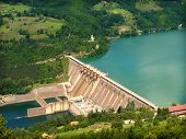 foto of hydroelectric power  - hydroelectric power station - JPG