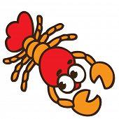 cartoon craw-fish poster