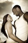 image of loving_couple  - Man and woman looking at each other - JPG