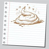 picture of poo  - Sketchy illustration of a poo - JPG