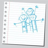 stock photo of cartoon people  - Sketchy illustration of a people laughing - JPG