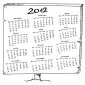 Постер, плакат: Эскиз календарь 2012 год
