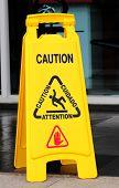 picture of slip hazard  - Floor caution sign - JPG