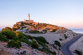 Beautiful White Lighthouse At Cape Formentor In The Coast Of North Mallorca, Spain Balearic Islands  poster