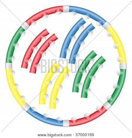 Dynamic Health Hoop For Fitness Vector Illustration