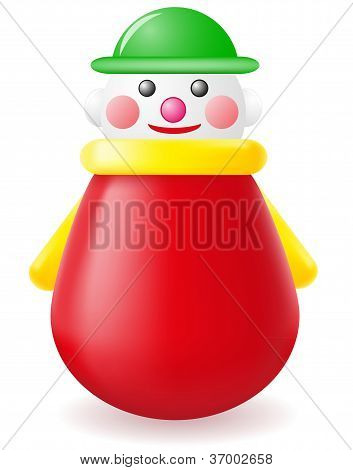 Roly-poly Doll Toy Vector Illustration