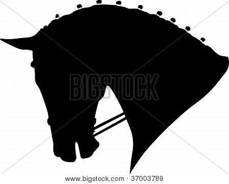 Dressage Horse Head  Silhouette.eps