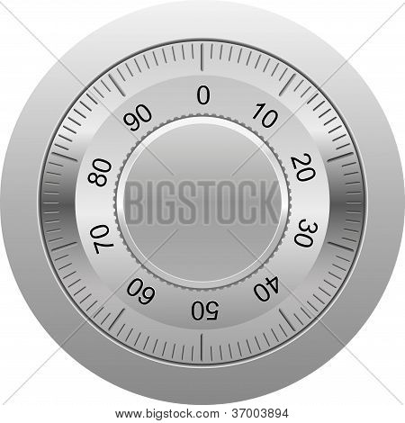 Combination Lock Vector Illustration