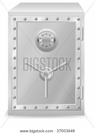 Safe With Combination Lock Vector Illustration