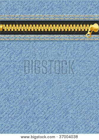 Jeans Texture With Zipper