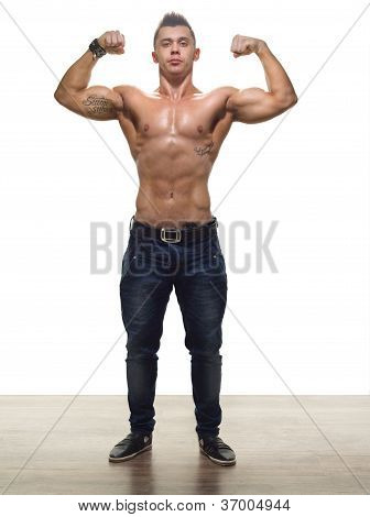 Handsome Bodybuilder In Studio