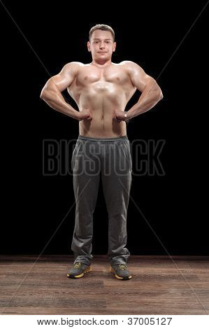Young Bodybuilder In Studio