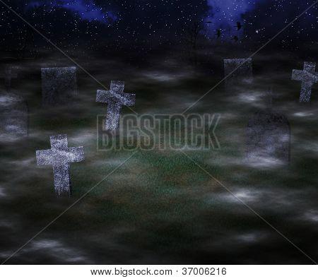 Scary Graveyard Background